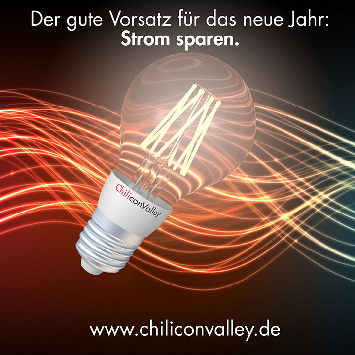 der gute vorsatz f rs neue jahr strom sparen chiliconvalley led lampen und led leuchtmittel. Black Bedroom Furniture Sets. Home Design Ideas